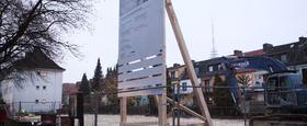 Bauschild / Leuchtkasten LED / Schilder / Außenwerbung / Banner